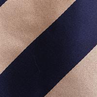 עניבה פסים רחבים כחול זהב
