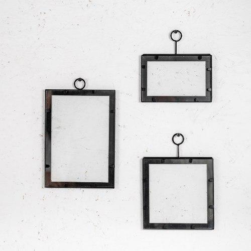 סט שלישיית מסגרות ברזל בשילוב זכוכית