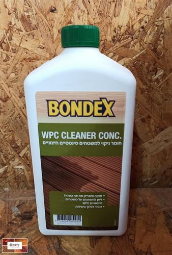 חומר ניקוי מעולה לדק סינטטי BONDEX WPC CLEANER
