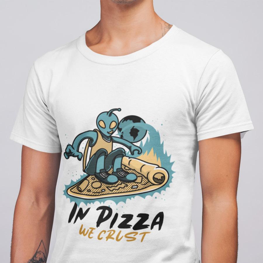 חולצת טי - In Pizza We Crust