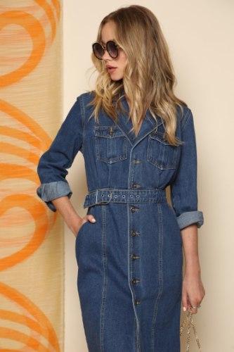 שמלת ג'ינס סגירת אבזם