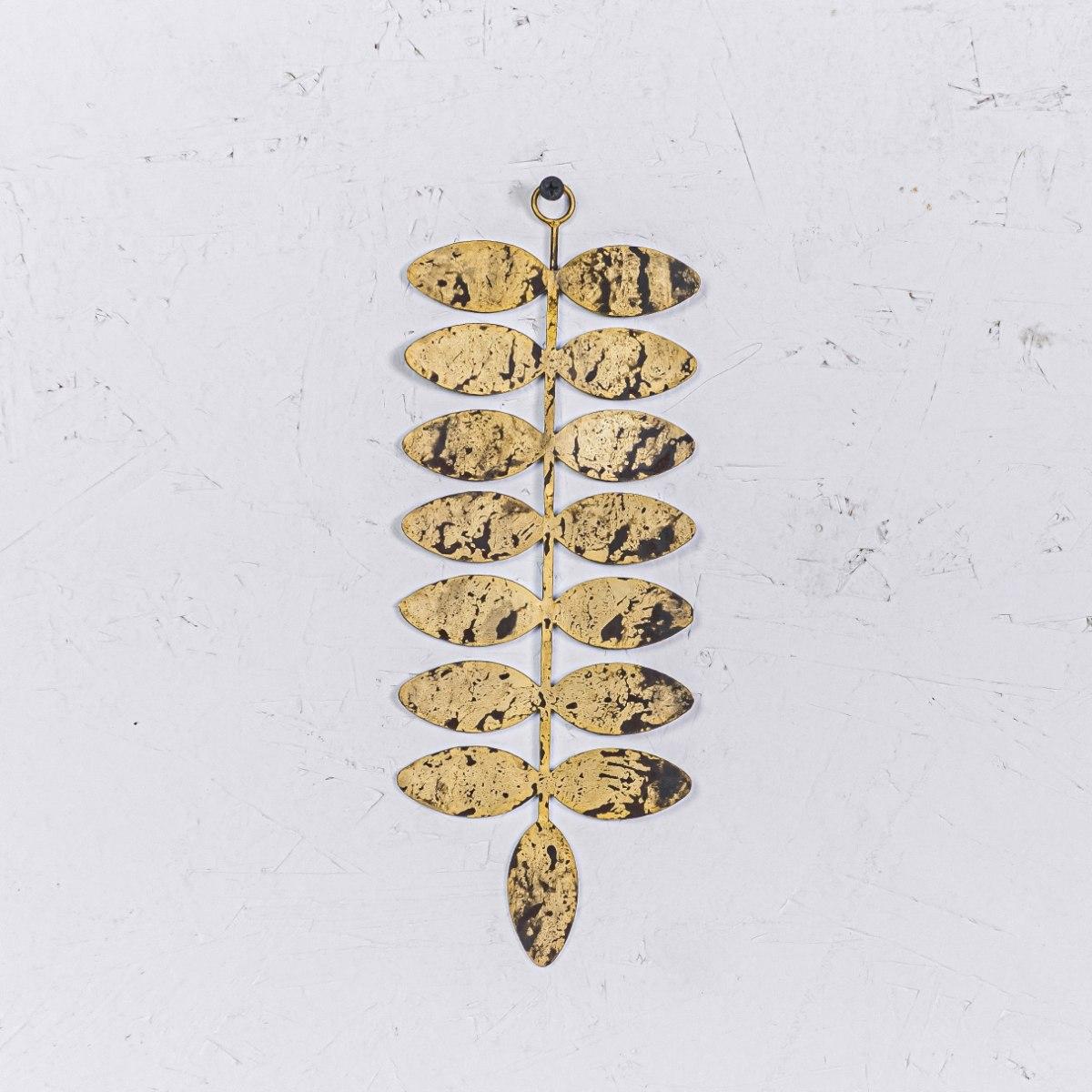 עלה מתכת L - זהב (שפיץ הצידה)