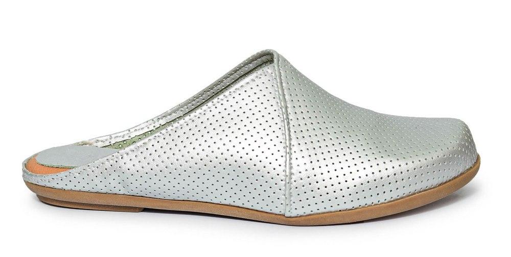 כפכף נוחות שטוח לנשים כחול-לבן דגם - LC898