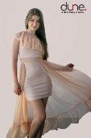 שמלת מקסי כתף אחת אלגנט