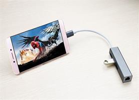 מתאם Type C תחנת עגינה עם חיבורים,  LAN Gigabit ,3* USB