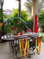 עיצוב שולחן מקסיקני. קישוטים מקסיקנים. עיצוב אירוע לפי נושא. סידור שולחן ליום הולדת. עיצוב שולחן יום הולדת