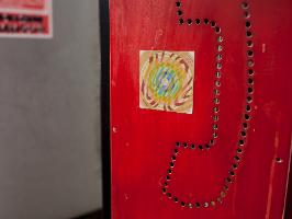 """מדבקת מנדלת """"זרימה"""" - מנדלה מקורית בעבודת יד מודפסת על מדבקת ויניל"""