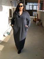 שמלת מנדי אפור כהה