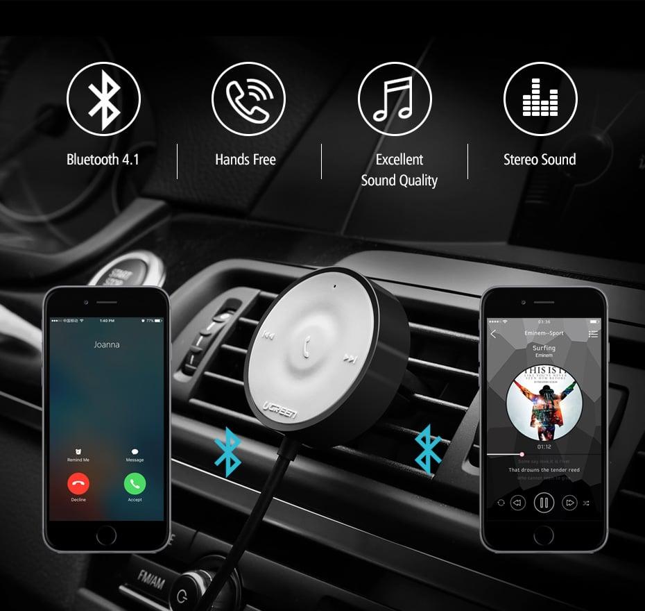 דיבורית בלוטוס איכותית לרכב של חברת Ugreen