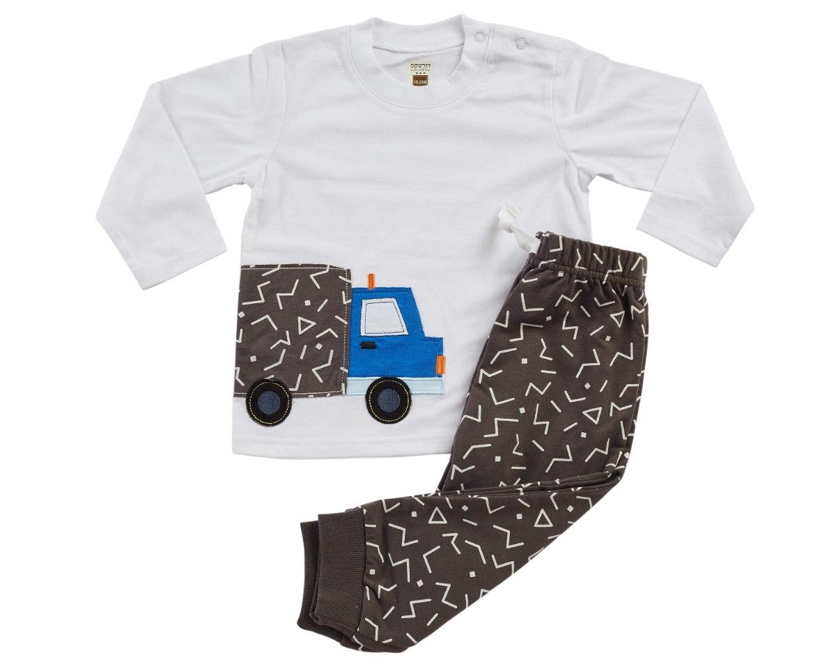 חליפת מעבר משאית לבן מכנס פרנצ׳ טרי