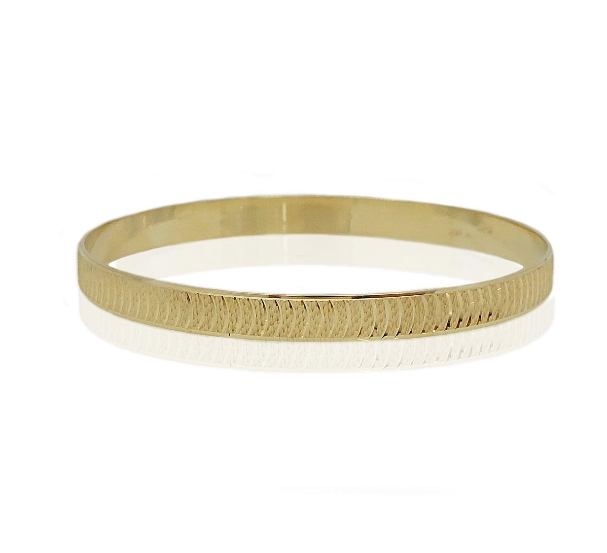 צמיד זהב מרוקאי   צמיד מרוקאי מזהב עם חריטות לייזר לאורך