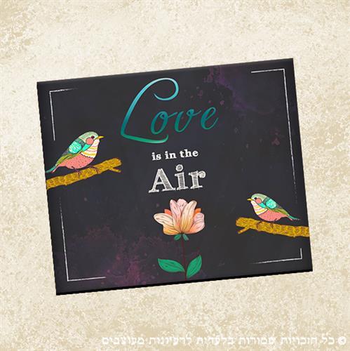 """משטח לעכבר """"Love is in the air""""   פד לעכבר   פד לעכבר מעוצב   מתנה למשרד   מתנות מקוריות"""