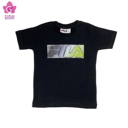 חולצת טי אופנה עם לוגו בנים
