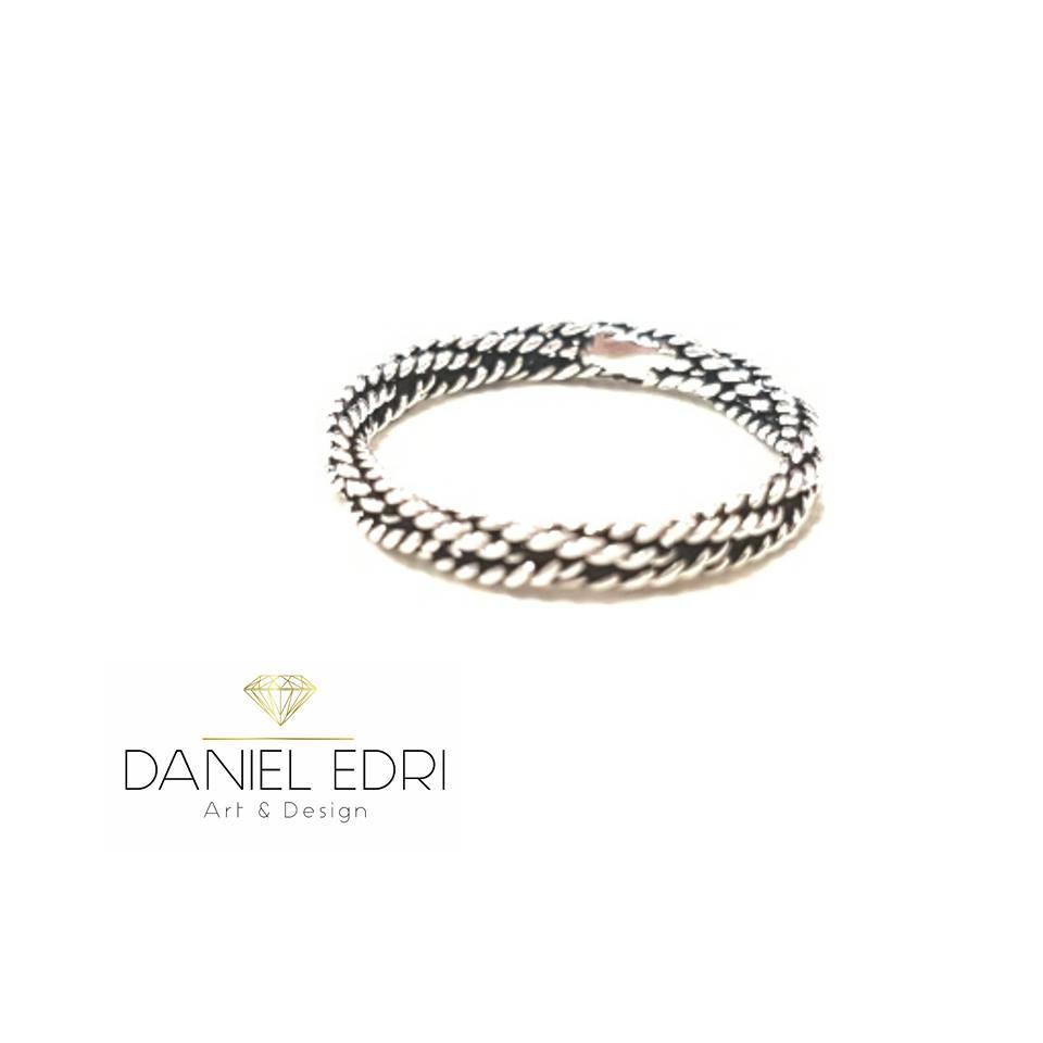טבעת חבל כסף 2