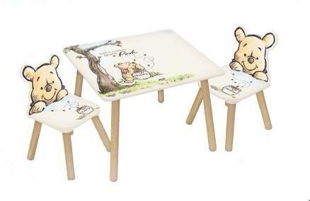 שולחן +כיסאות עץ פו הדוב