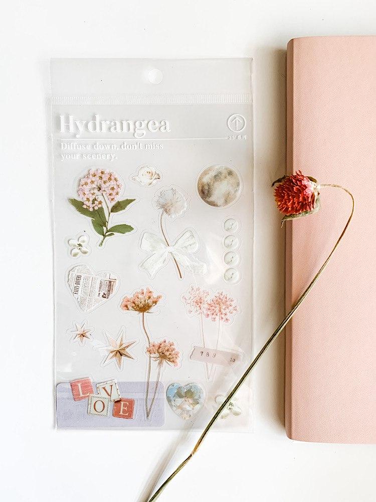 מדבקות פרחים- אהבה