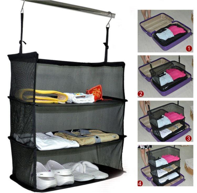 תיק נייד מיוחד 3 שכבות לאחסון במזוודה