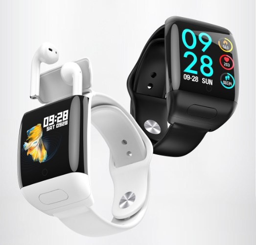 שעון מרובע עם אוזניות- Swatch.plus
