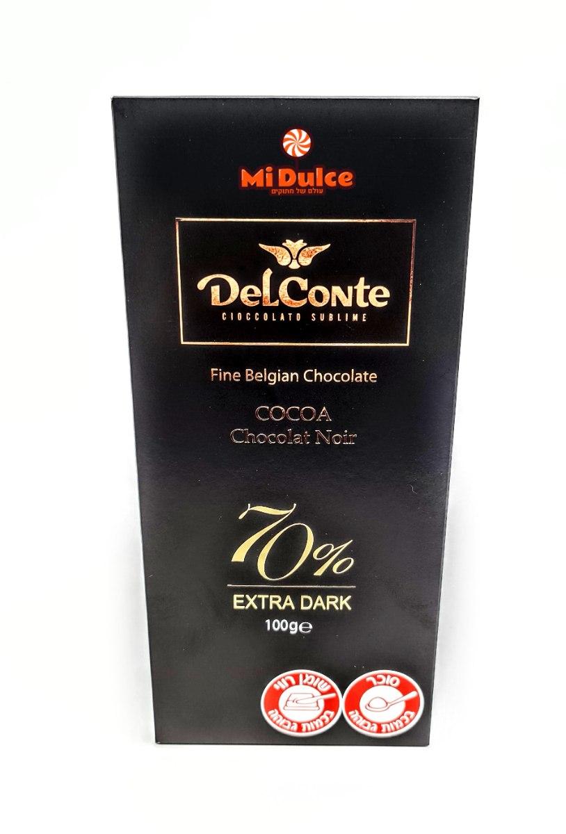 Delconte 70% שוקולד מריר