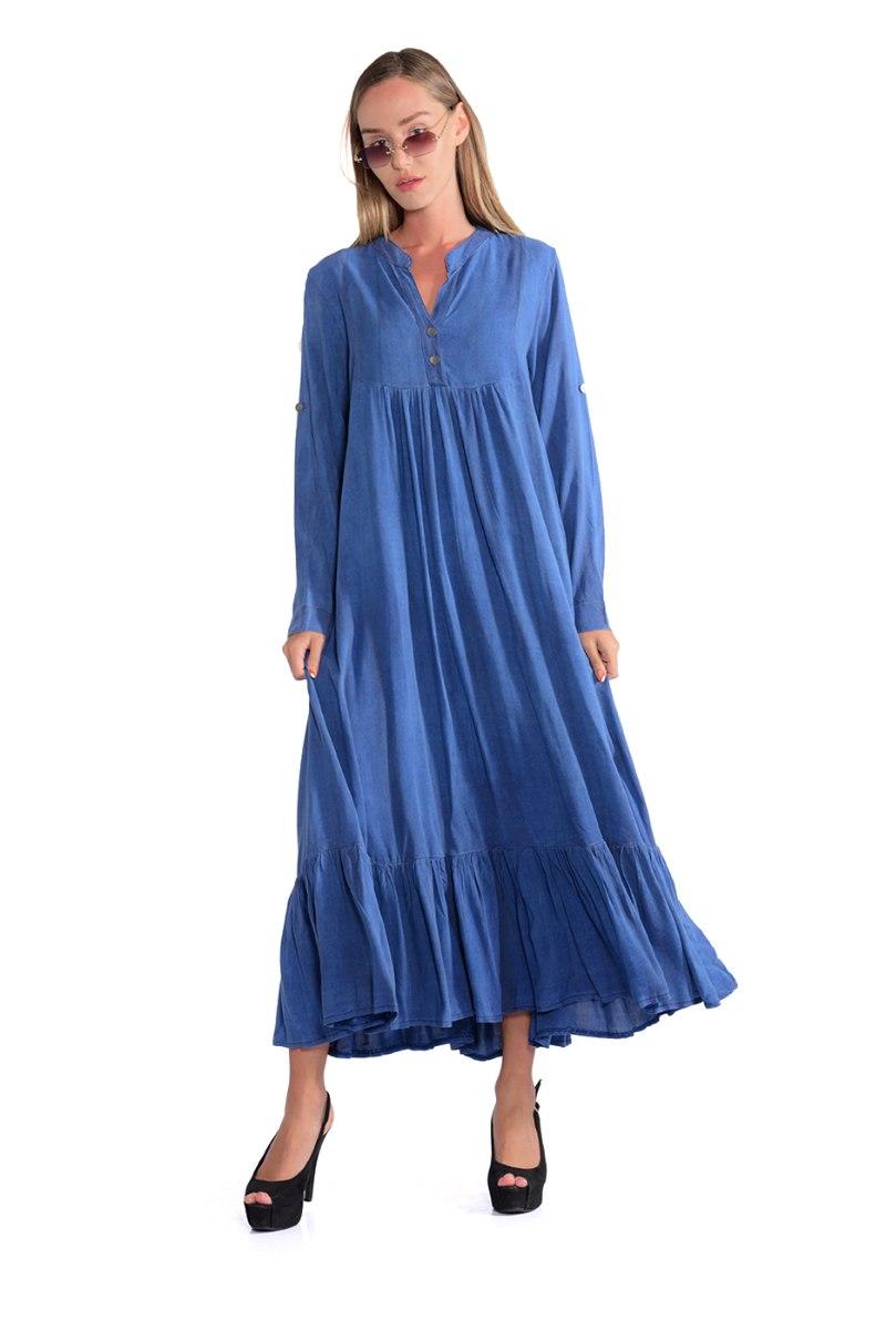 שמלה מלינה כחולה