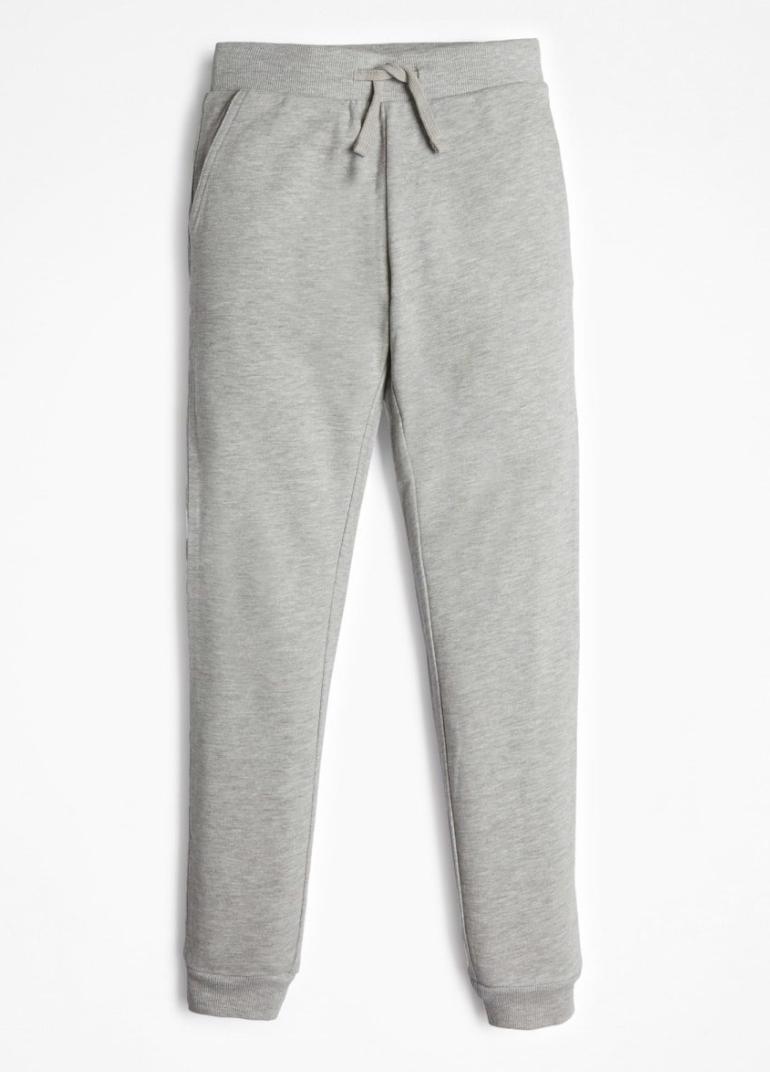 מכנס טרנינג אפור GUESS לוגו מנצנץ ורוד בכיס - בנות - 8-16 שנים