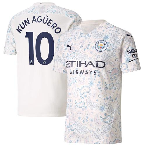 חולצת משחק מנצ'סטר סיטי שלישית 20/21 - KUN AGUERO 10 גרסת שחקן (מידה L)