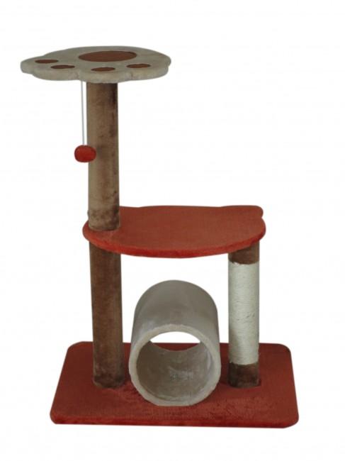 מתקן גירוד וישיבה לחתולים דגם גליל וכף רגל