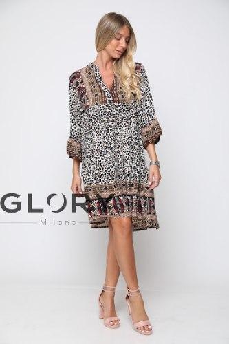 שמלת ויסקוזה בורדור 1 GLORY