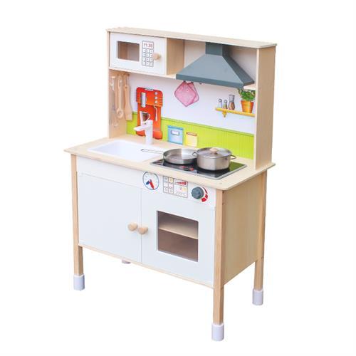 מטבח עץ לילדים לבן דגם פלג W10C411