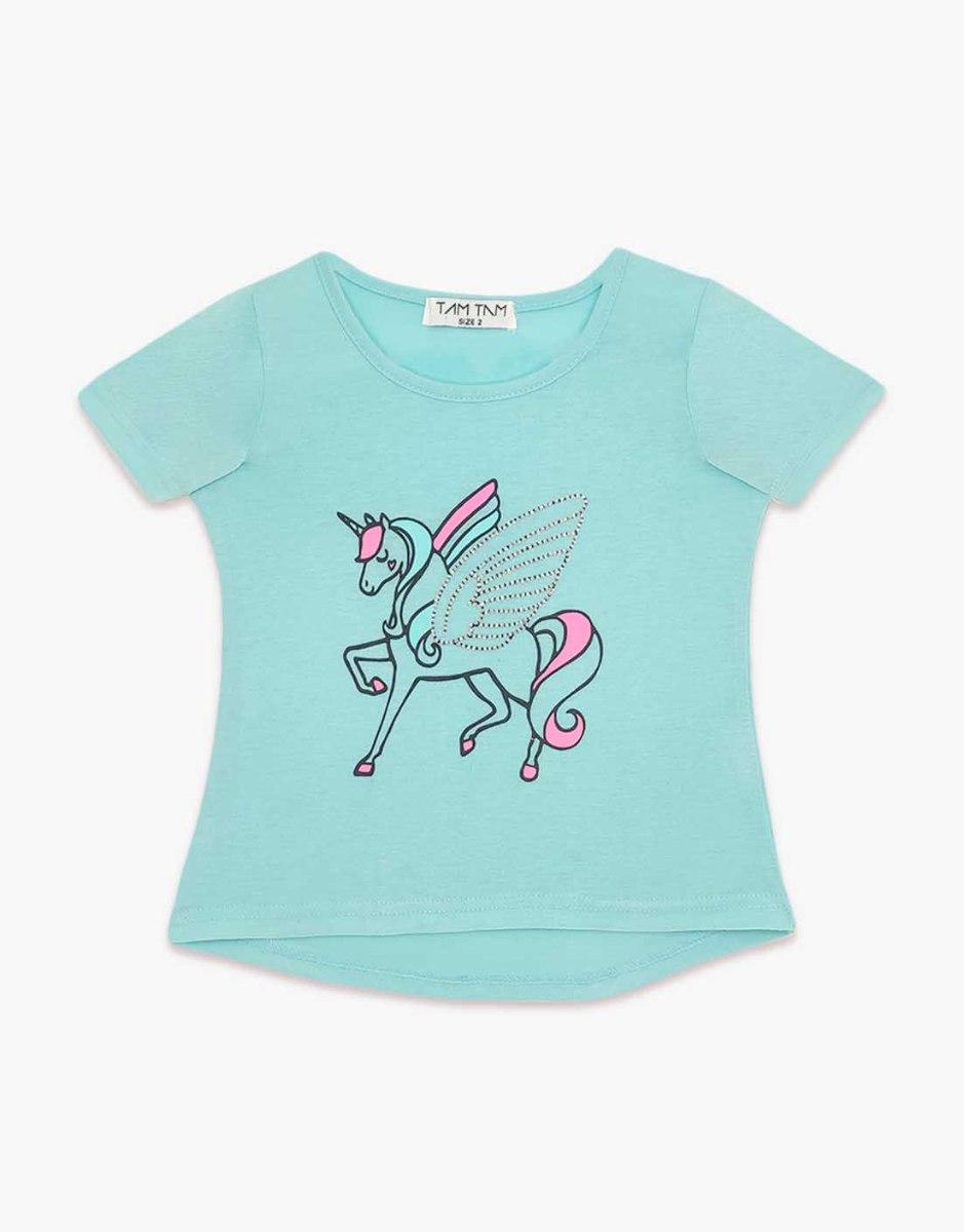 חולצה בנות טריקו מעוצבת סוס