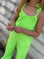 MISS KIDS אוברול ירוק ניאון מידות 2-16