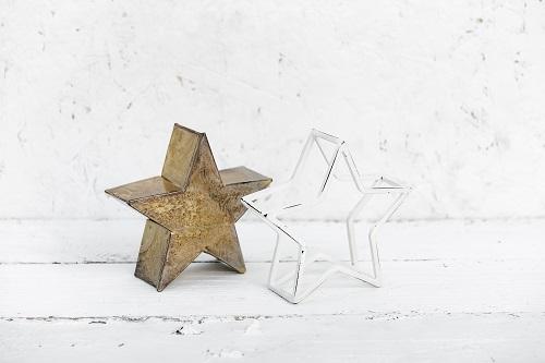 זוג כוכבים קטן זהב ולבן