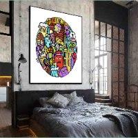 ציור גרפיטי צבעוני לחדר שינה של האמן כפיר תג'ר
