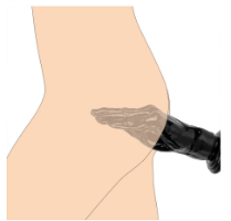 דילדו שחור בצורת יד לחדירה עמוקה של פיסט