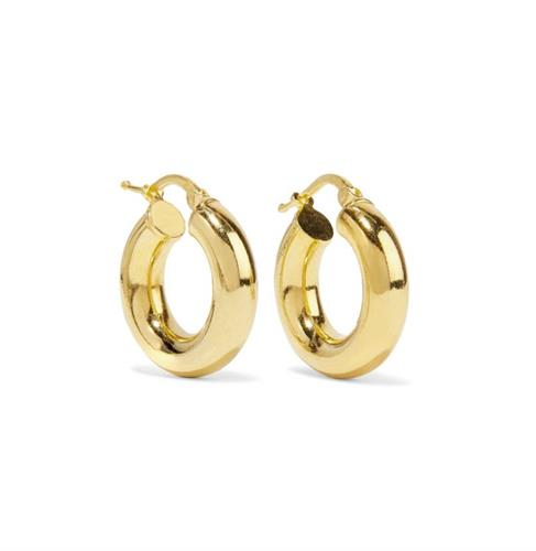 עגילי חישוק זהב צהוב קטנים ורחבים 1.8 סמ