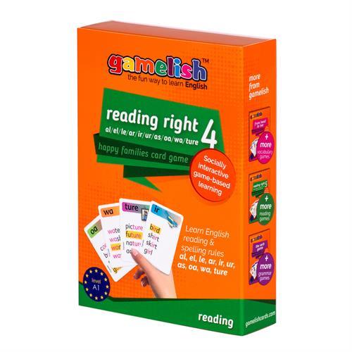משחק רביעיות באנגלית gamelish | קוראים נכון reading right 4