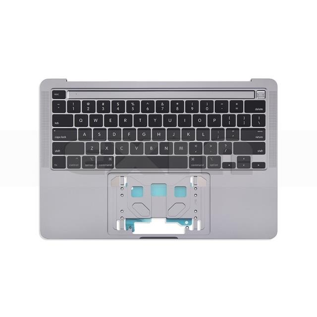 "החלפת ותיקון מקלדת למקבוק Macbook Pro 13.3"" Retina A2251 Topcase with US Keyboard Space Grey 2020"