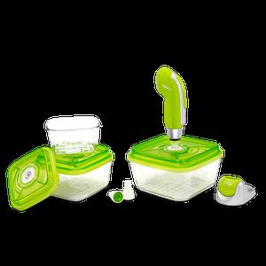 סט מיני ווקסי מזכוכית (חמישה חלקים) לאחסון מזון בוואקום