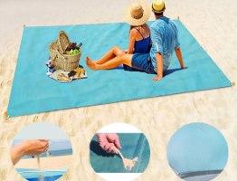 מחצלת חוף דוחה חול