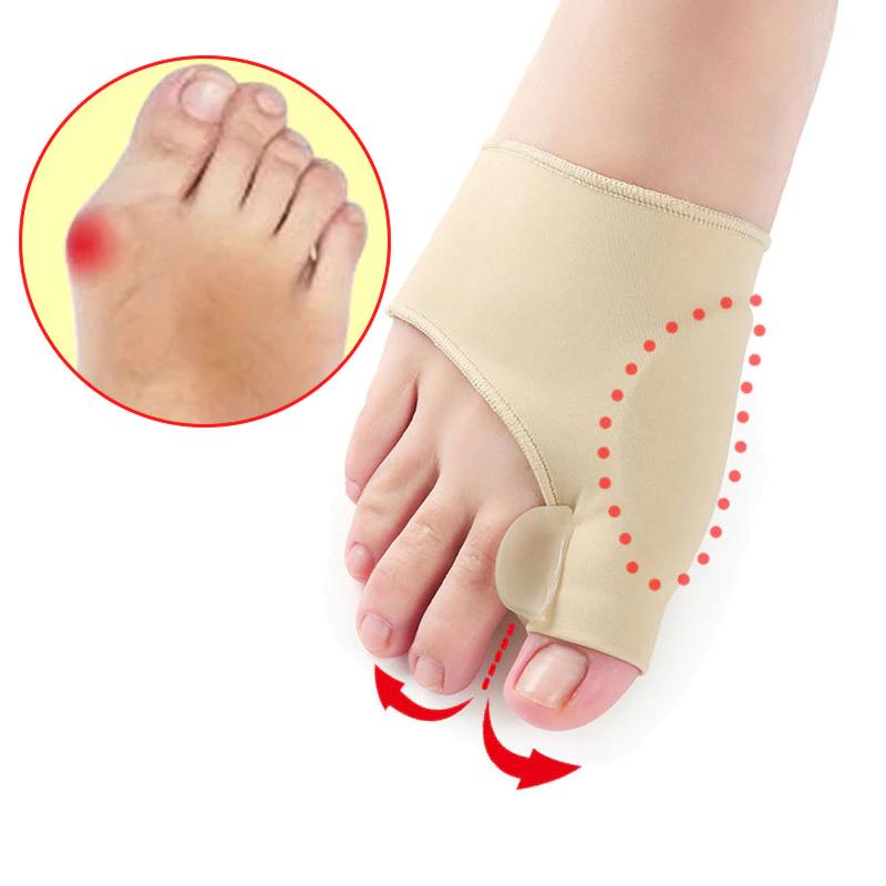 זוג גרביים אלסטיות לטיפול ולמניעת עקמת הבוהן