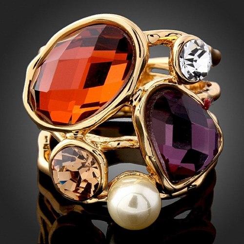 טבעת DOART - הצהרה וינטג'ת צבעונית
