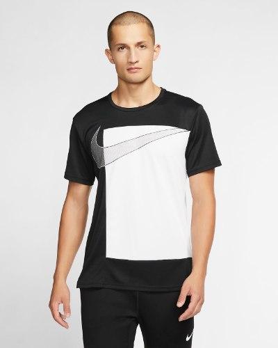 NIKE טי שרט נייק שחורה לבנה גברים CJ4617-010