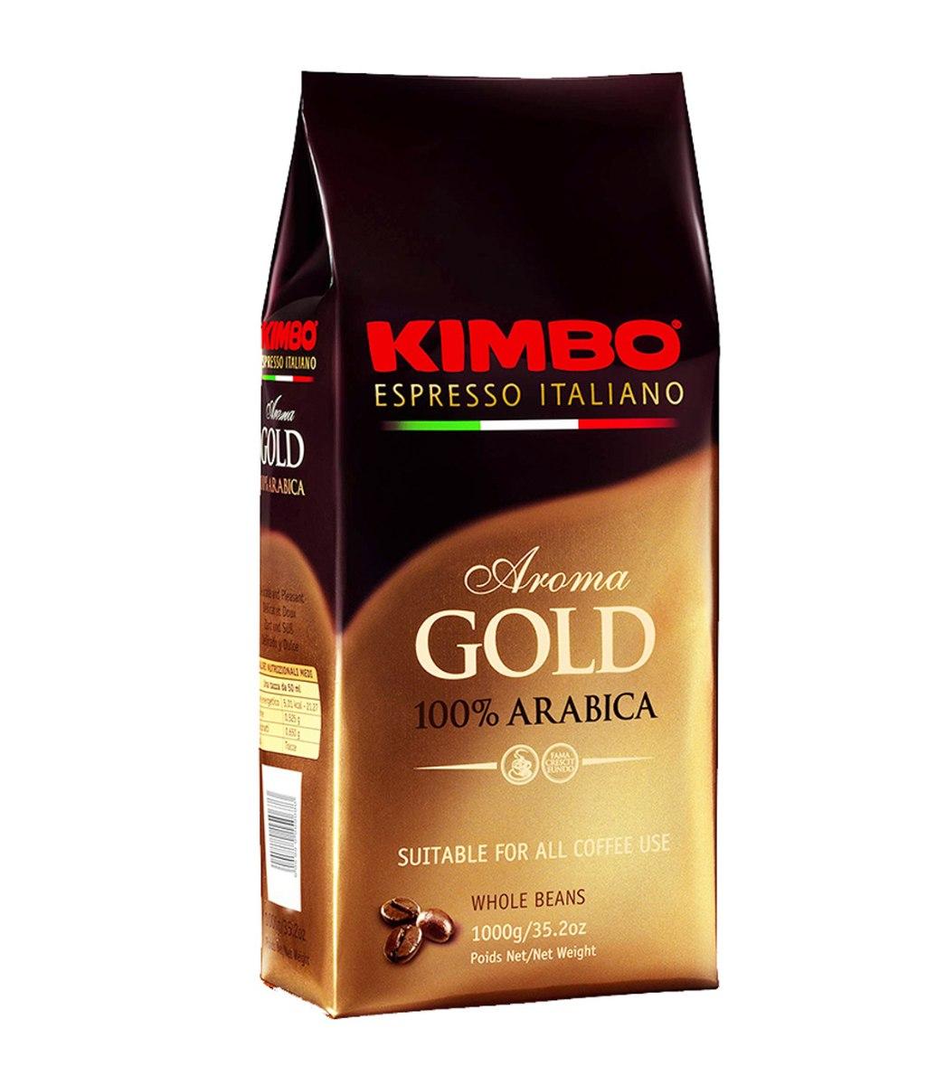 """1 ק""""ג פולי קפה Kimbo Espresso Gold 100% arabica"""