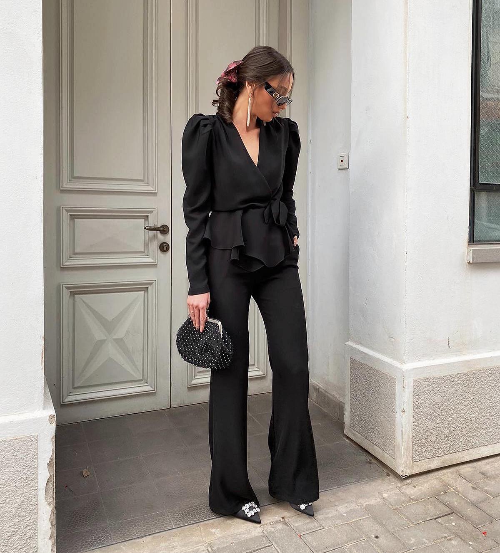 חליפת ניקול - שחורה