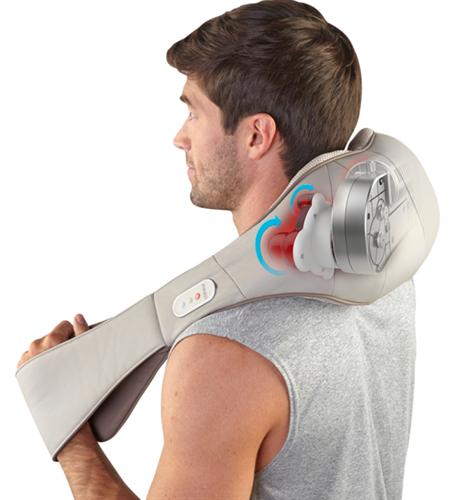 מכשיר עיסוי שיאצו לכתפיים ולצוואר + חימום