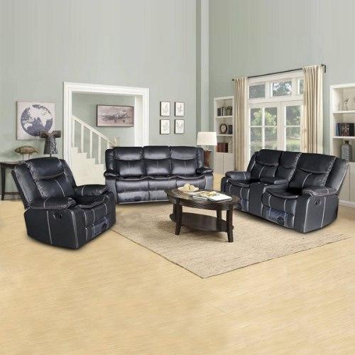 ספה 1+2+3 מושבים ג'ק מרלו (עור שחור)