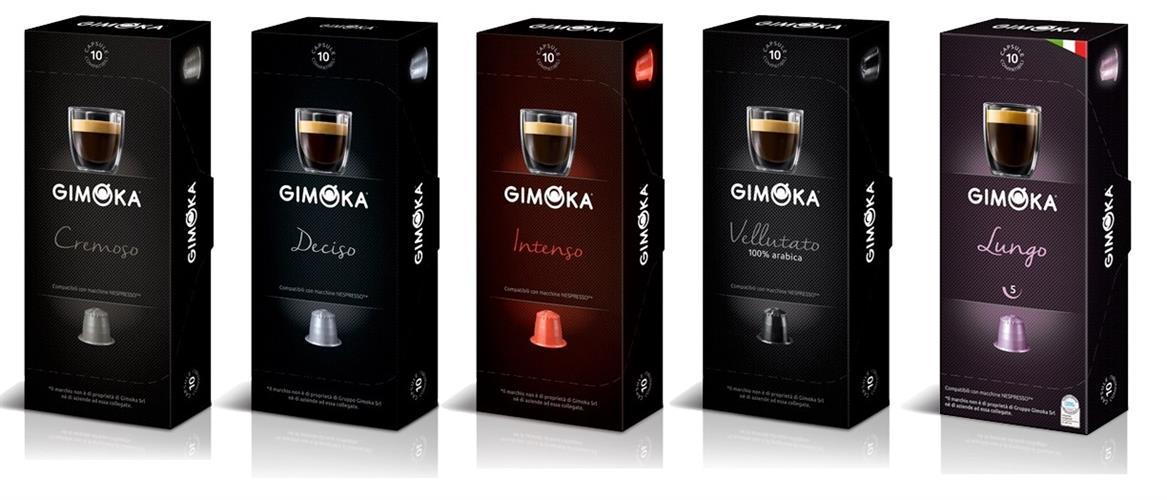 100 קפסולות למכונות נספרסו ג'ימוקה Gimoka Italy MIX
