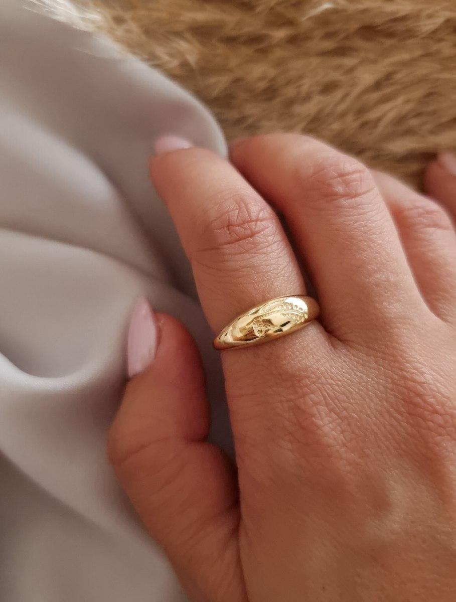 טבעת זהב שיבולת