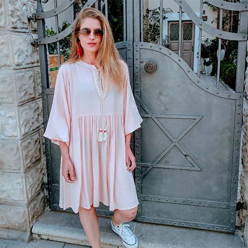 שמלת היילי וורוד