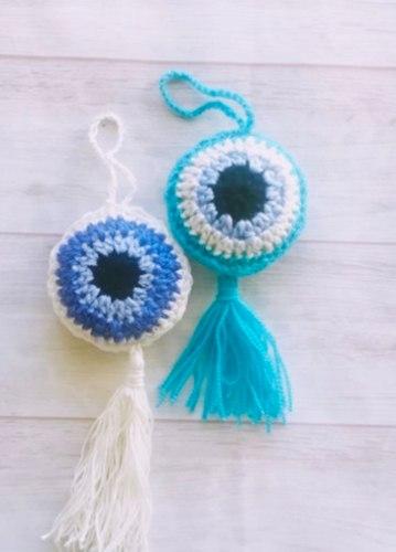 מתלי עין כחולה זוג מתלים, ניתן לבחור מכל צבע